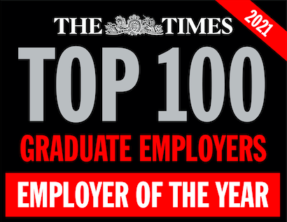 The Times Top 100 Graduate Emploers logo - Employer of the year