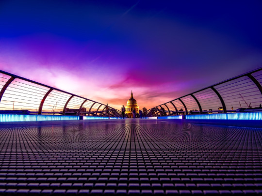 Bridge And St Pauls Cathedral