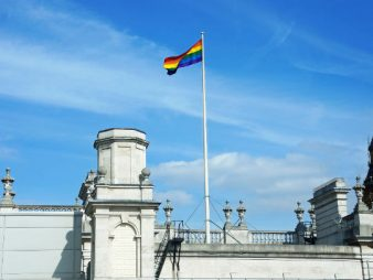 Rainbow Flag on Building