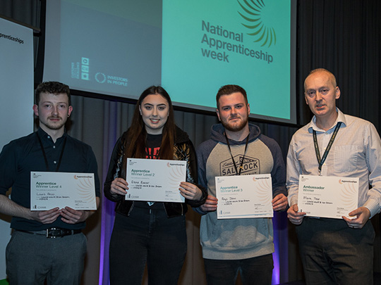 Four Winners at the National Apprentice Awards