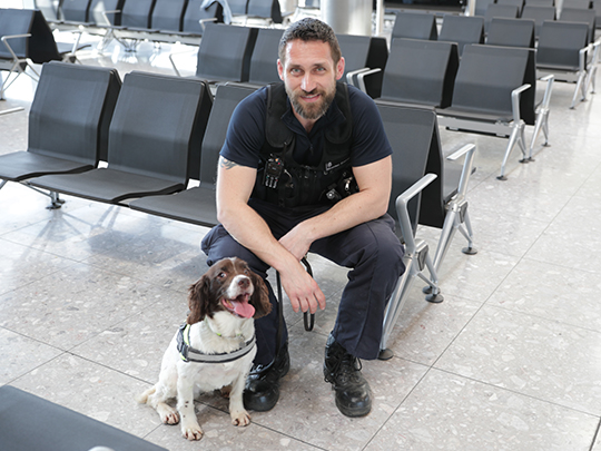 Police Officer And Dog Home Office