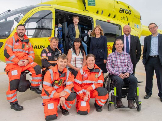 Team Members From The Yorkshire Air Ambulance
