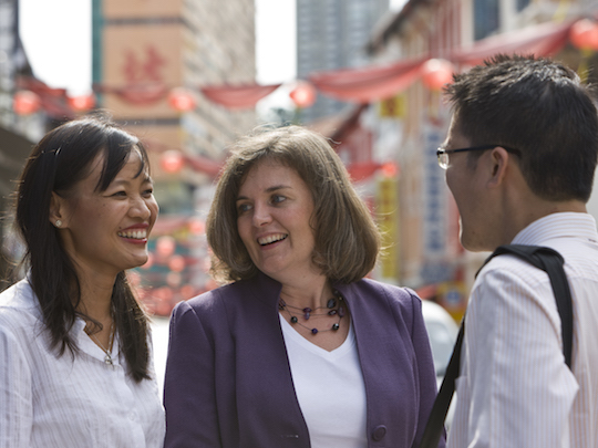 Three Team Members from the Trade Profession in Southside Singapore