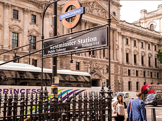 Westminster Station Underground Sign And Street View